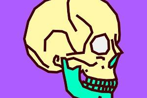 Human skull art design. Sketch.