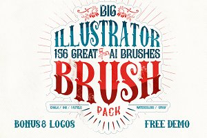 156 Illustrator Brush Pack + Bonus