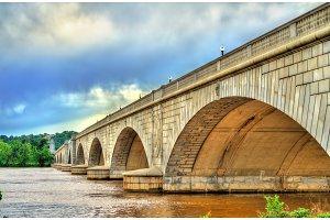 The Arlington Memorial Bridge across the Potomac River at Washington, D.C.