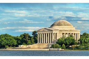 The Jefferson Memorial, a presidential memorial in Washington, D.C.