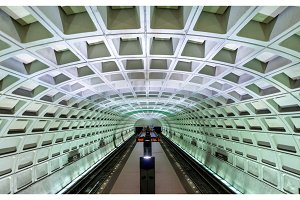 Capitol South metro station in Washington DC