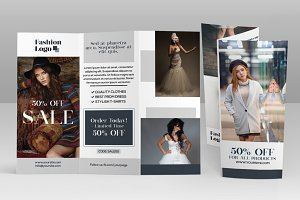 Fashion Sale Tri-fold Brochure - PSD