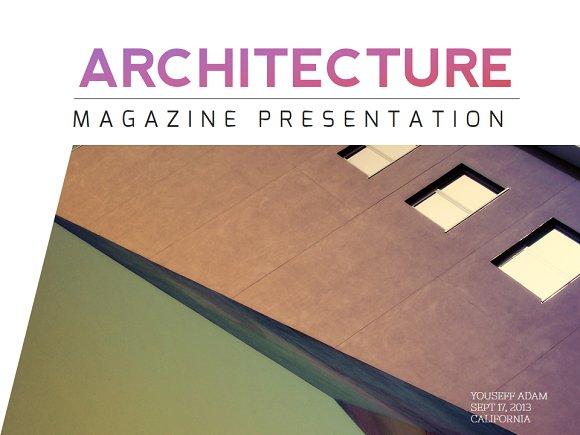 Architecture magazine powerpoint presentation templates architecture magazine powerpoint presentations toneelgroepblik Images