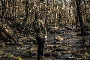 Hippie girl in Nature
