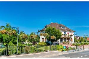 Mairie or town hall of Plobsheim near Strasbourg, France