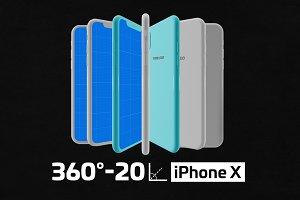 Minimal iPhone X Kit Mockup
