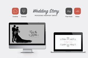 Wedding Story Powerpoint Template