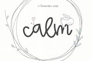 Calm - Handwritten Script