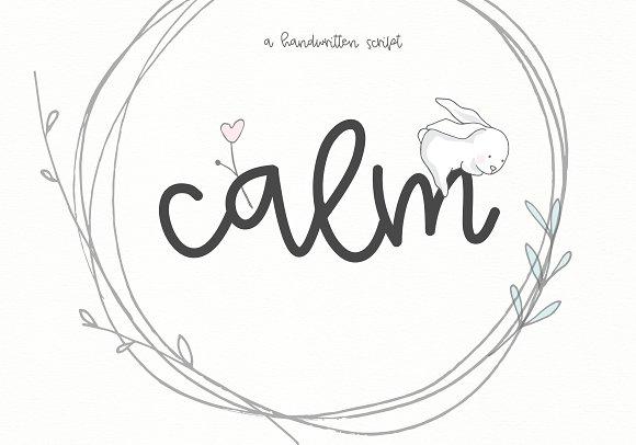 Calm - Handwritten Script in Script Fonts