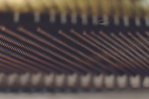 Strings in the piano