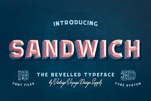 Sandwich • -50% • Bevelled 3D Type