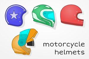 Motorcycle helmets set