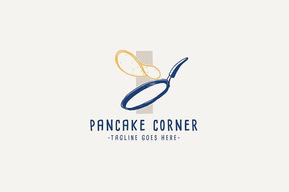 Pancake Corner Logo Template