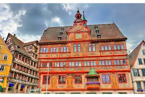 Rathaus, the town hall of Tubingen in Baden-Wurttemberg, Germany