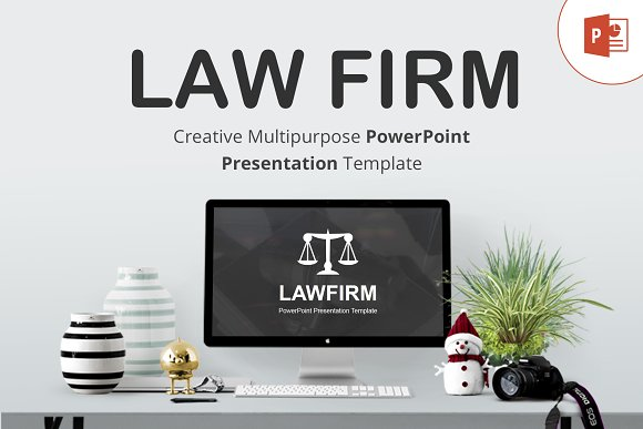 law firm powerpoint template presentation templates creative market