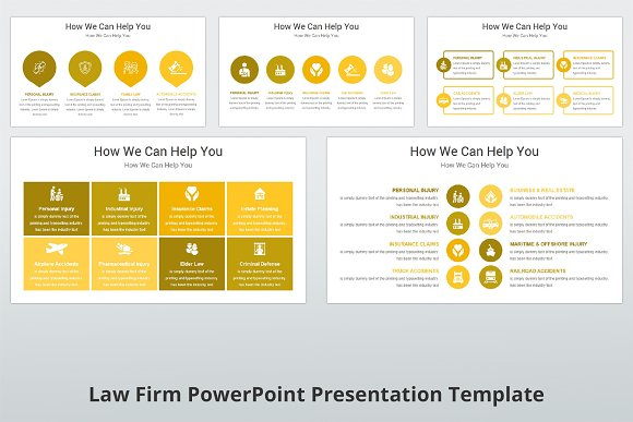 Law Firm PowerPoint Template ~ Presentation Templates ~ Creative Market