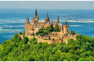 Hohenzollern Castle in the Swabian Alps - Baden-Wurttemberg, Germany