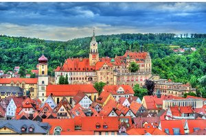 View of Sigmaringen Castle in Baden-Wurttemberg, Germany