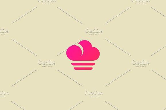 Cook Cloud Food Vector Logo