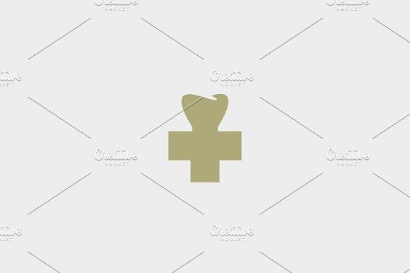 Dental Cross Tooth Logotype