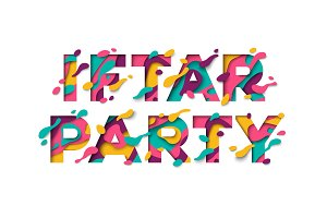 Iftar party typography