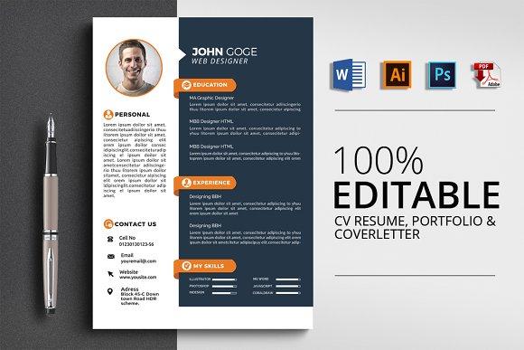 3 Pages Stylish CV Resume