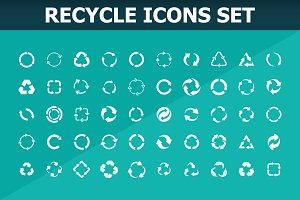 Ecology recycle icons set