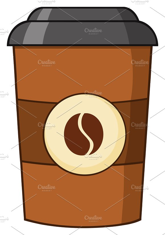 Coffee Cup Cartoon Illustration