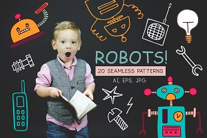 ROBOTS! - 20 seamless patterns