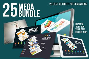 Mega Bundle 25 Keynote Templates