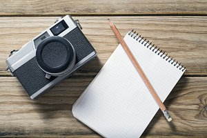 Camera and notebook