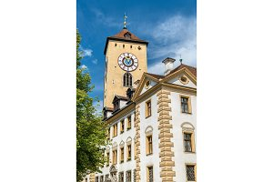 Altes Rathaus, the old town hall in Regensburg, Germany