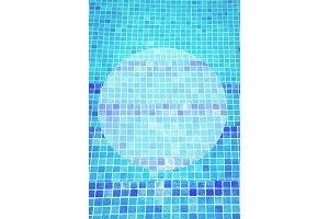 beautiful cool water in swimming pool