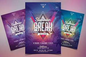 Summer Break - PSD Flyer Template