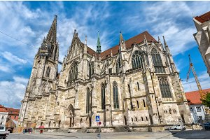 Dom St. Peter, the Cathedral of Regensburg in Germany