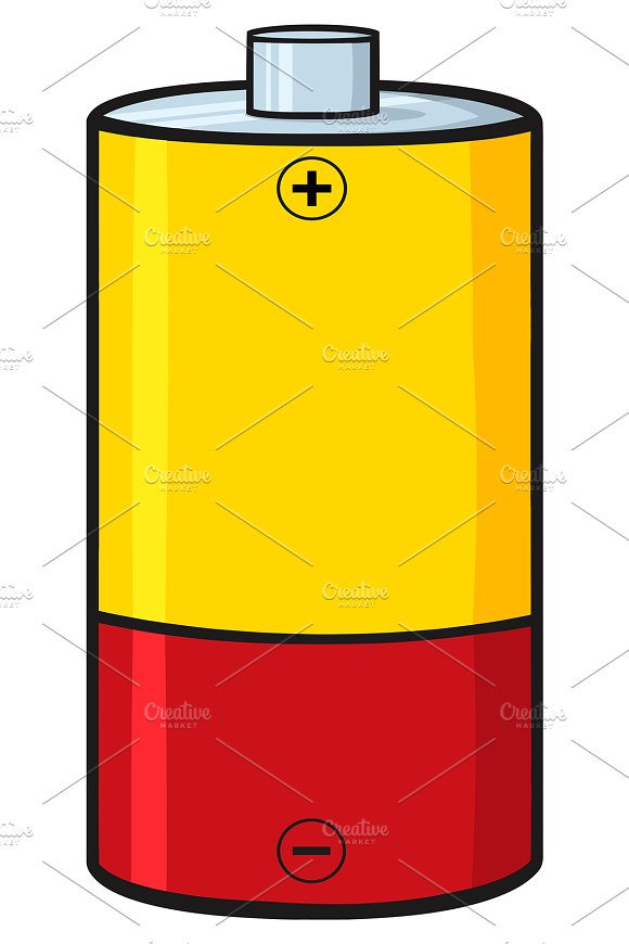 Yellow And Red Battery