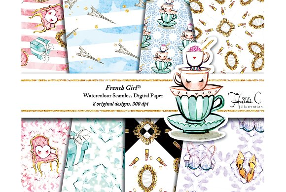 French Girl Paper Pack
