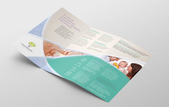 Simple Corporate Tri-Fold Brochure in Brochure Templates - product preview 1