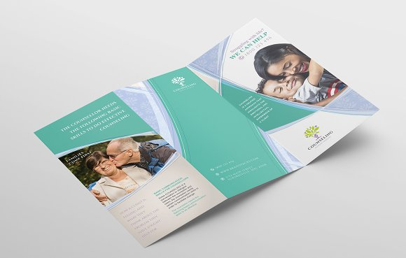 Simple Corporate Tri-Fold Brochure in Brochure Templates - product preview 3