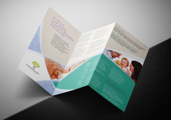 Simple Corporate Tri-Fold Brochure in Brochure Templates - product preview 4