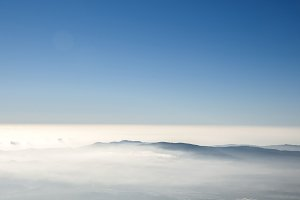 fog in the mountains of Montseny in