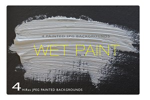 Wet Paint - 4 Photo Backgrounds
