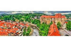View of Cesky Krumlov Castle in Czech Republic