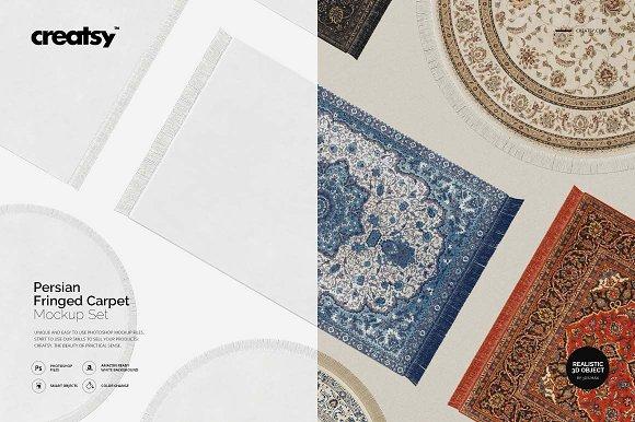 Persian Fringed Carpet Mockup Set