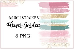 "Brush Strokes ""Flower Garden"" Pink"