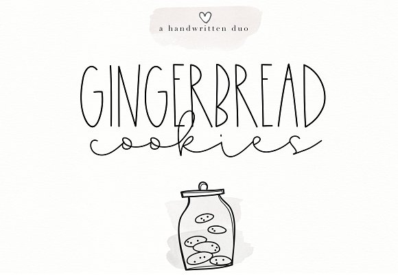 Gingerbread Cookies - A Font Duo
