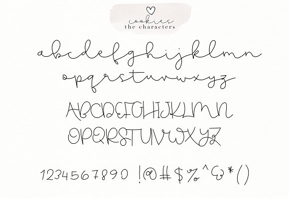 Gingerbread Cookies - A Font Duo in Script Fonts - product preview 8