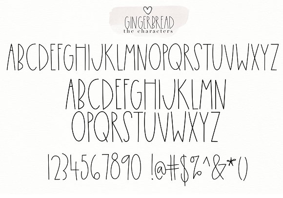 Gingerbread Cookies - A Font Duo in Script Fonts - product preview 9