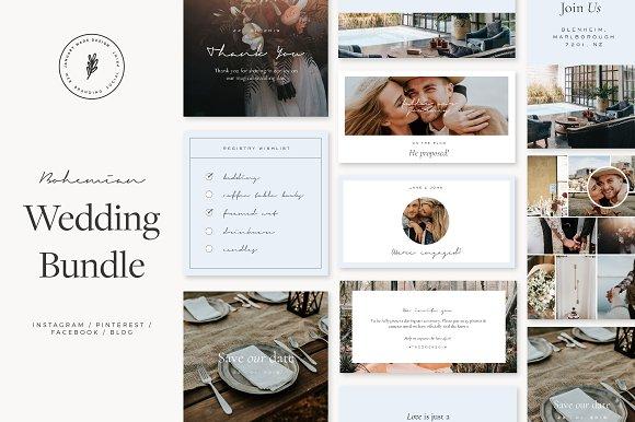 Bohemian Wedding Social Bundle