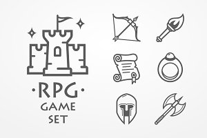 RPG game set